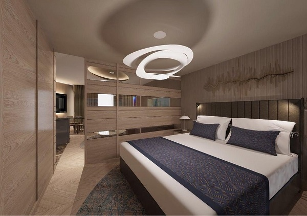 Одна из спален Riviera Imperial Deluxe Hotel & Spa
