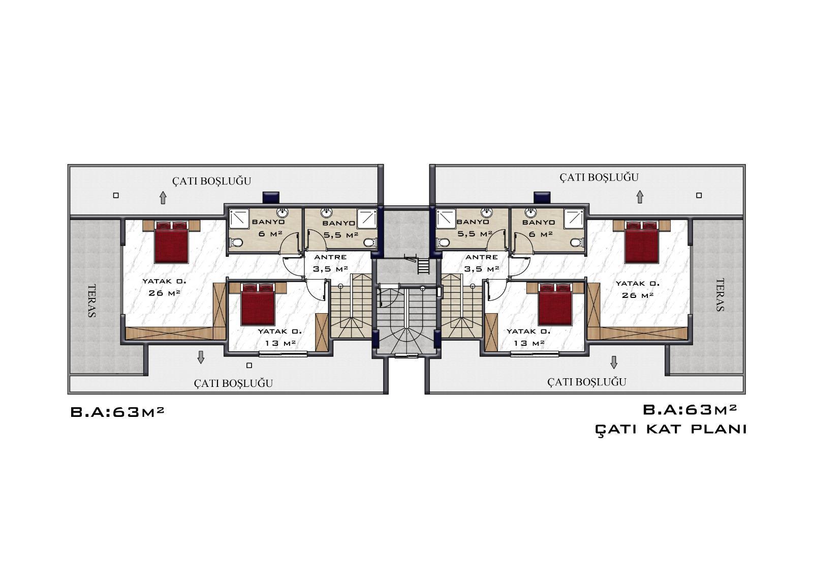 2+1 Квартиры в строящемся объекте в центре Оба