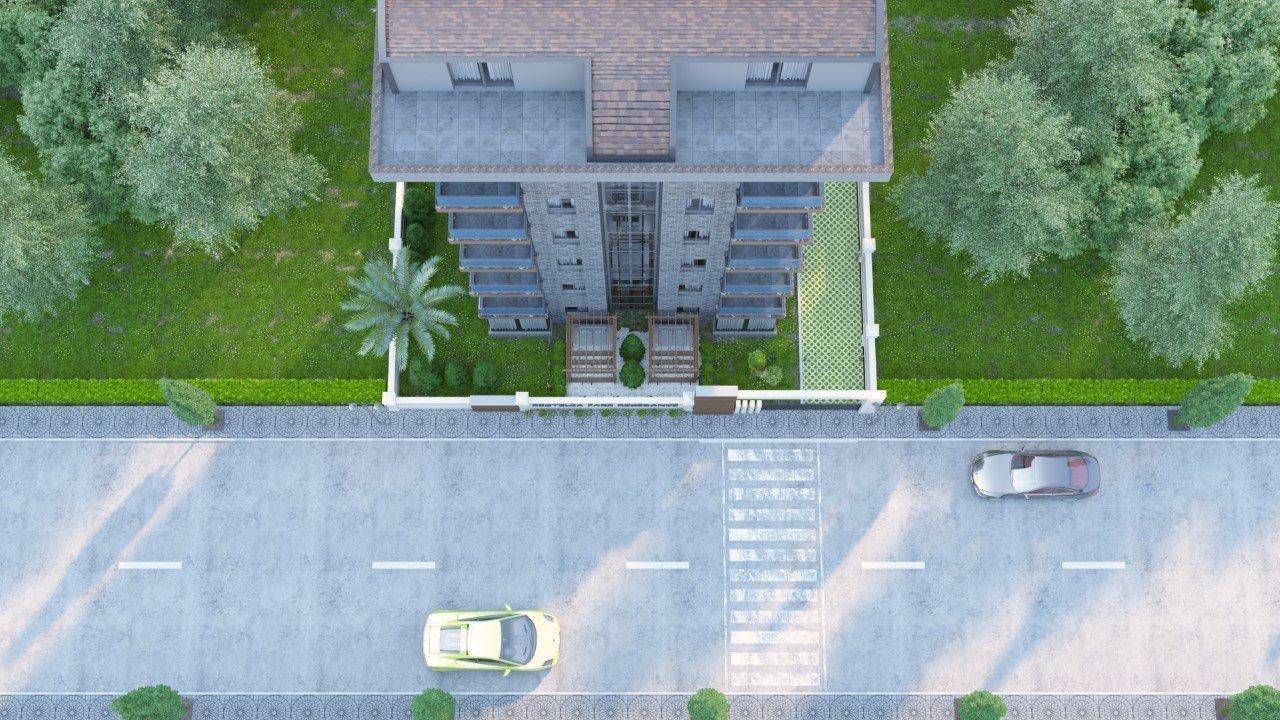 Алания Кестель  квартира 1+1 на стадии строительства