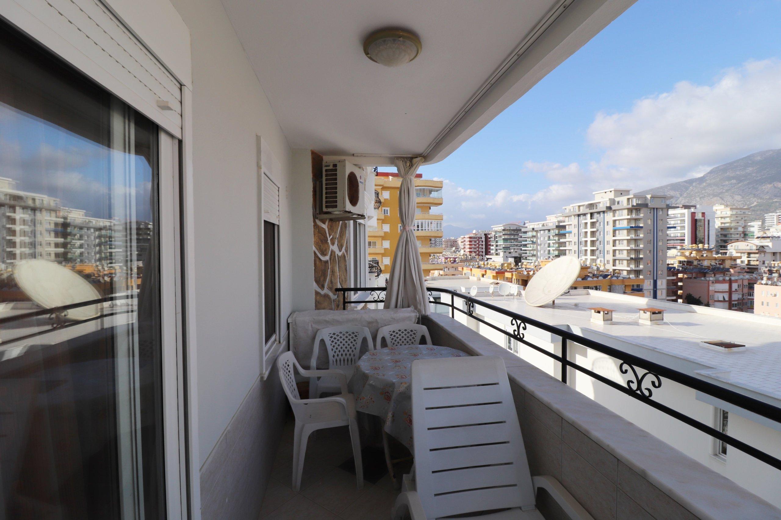 2+1 Меблированная квартира с панорамным видом на море и горы