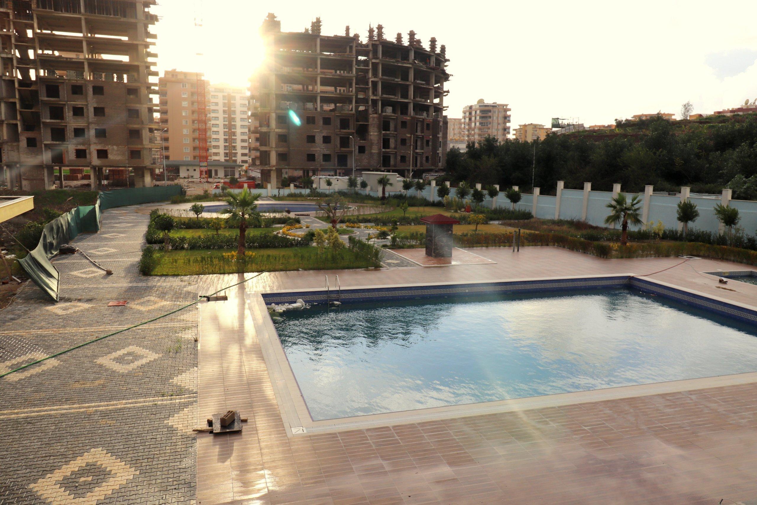 Алания Махмутлар Квартира 1+1с Просторным Балконом в Комплексе