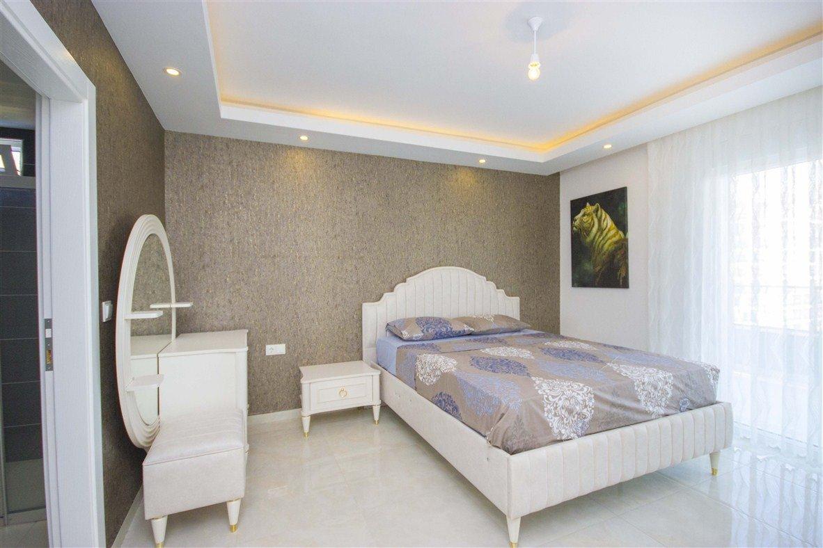 3+1 Меблированная квартира с красивым панорамным видом на горы и море