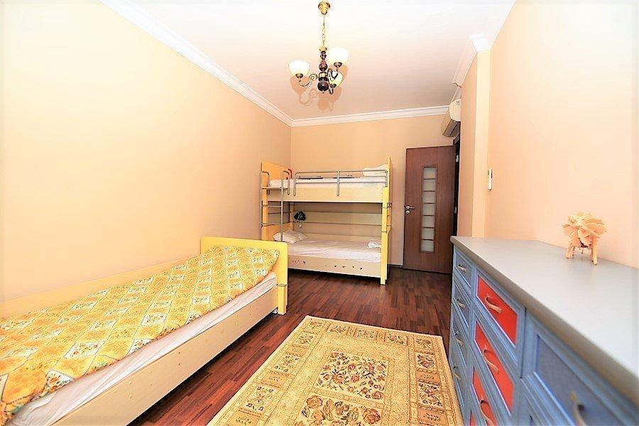 Алания  Меблированная Квартира 3+1 в Комлексе с Собственным Пляжем