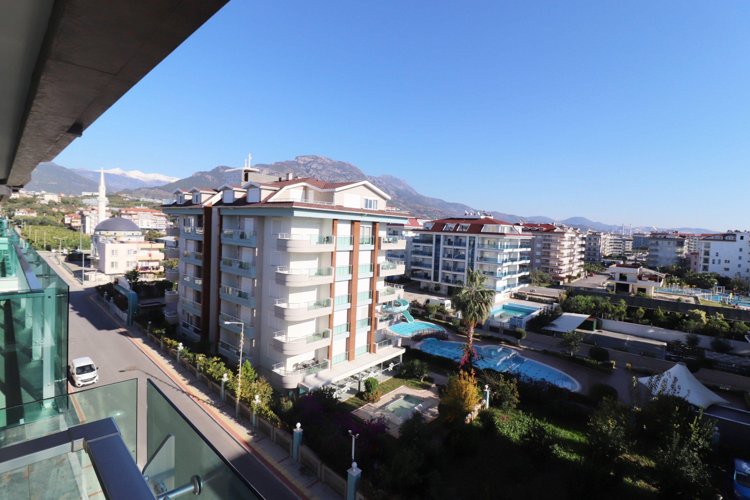 2+1 Элитный меблированный пентхаус с панорамным видом на море и горы