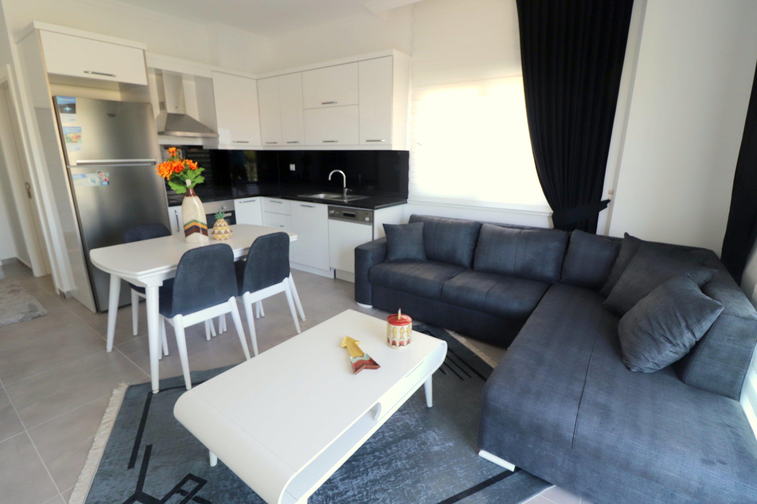 Алания Авсаллар Квартира 1+1в Новом Доме с Мебелью и Техникой