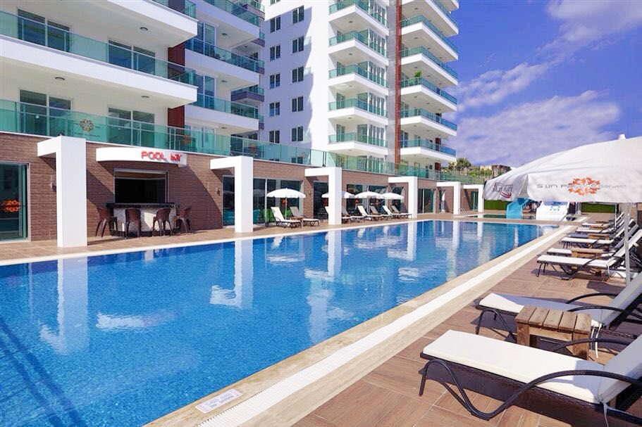 2+1 Меблированная квартира с видом на море в люкс резиденции