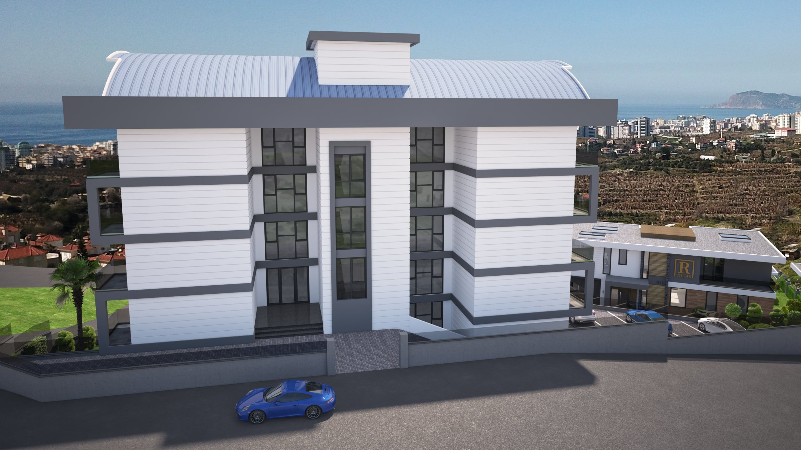 1+1 Квартиры в жилом комплексе с рассрочкой платежа от застройщика в районе Каргыджак