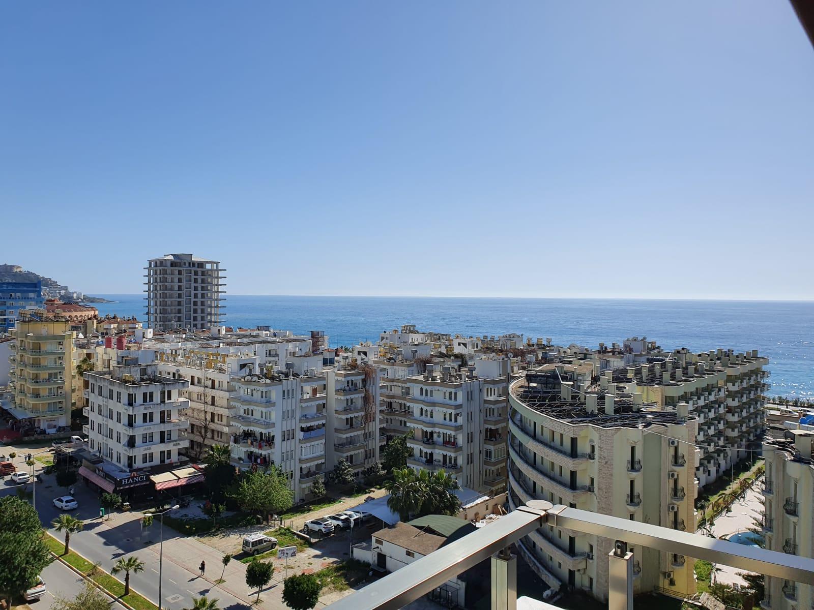 3+1 Меблированный пентхаус с панорамным видом на море