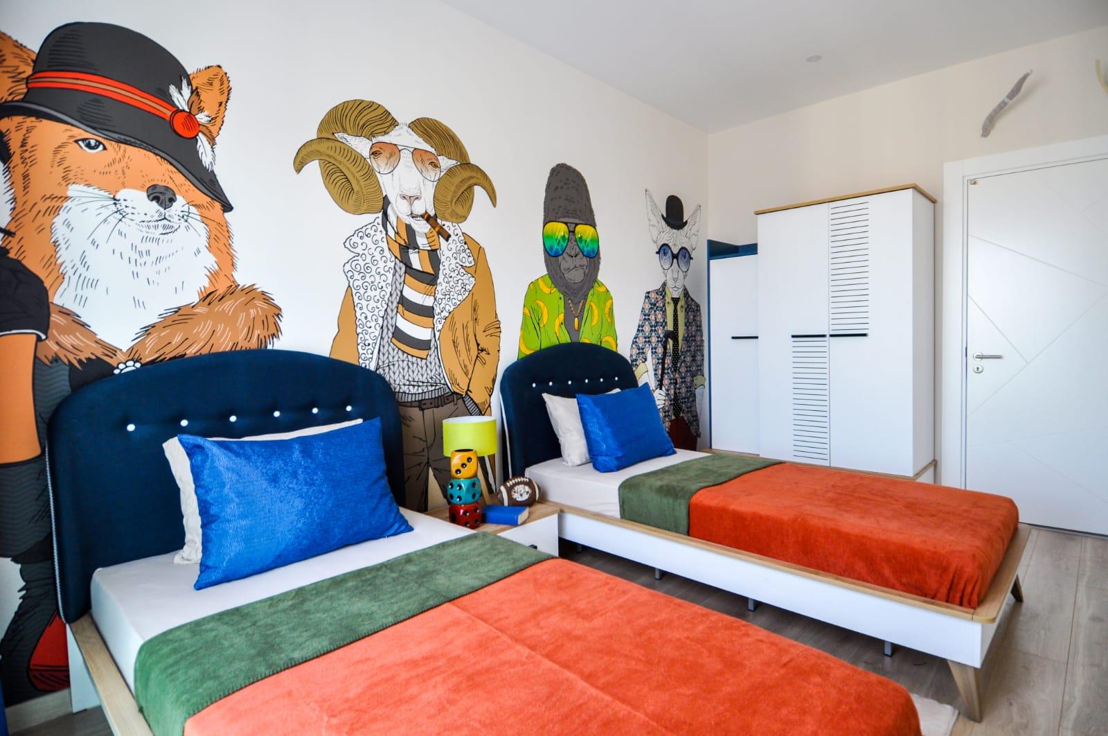 З+1 Меблированная квартира в самом сердце Алании с видом на Аланийское побережье