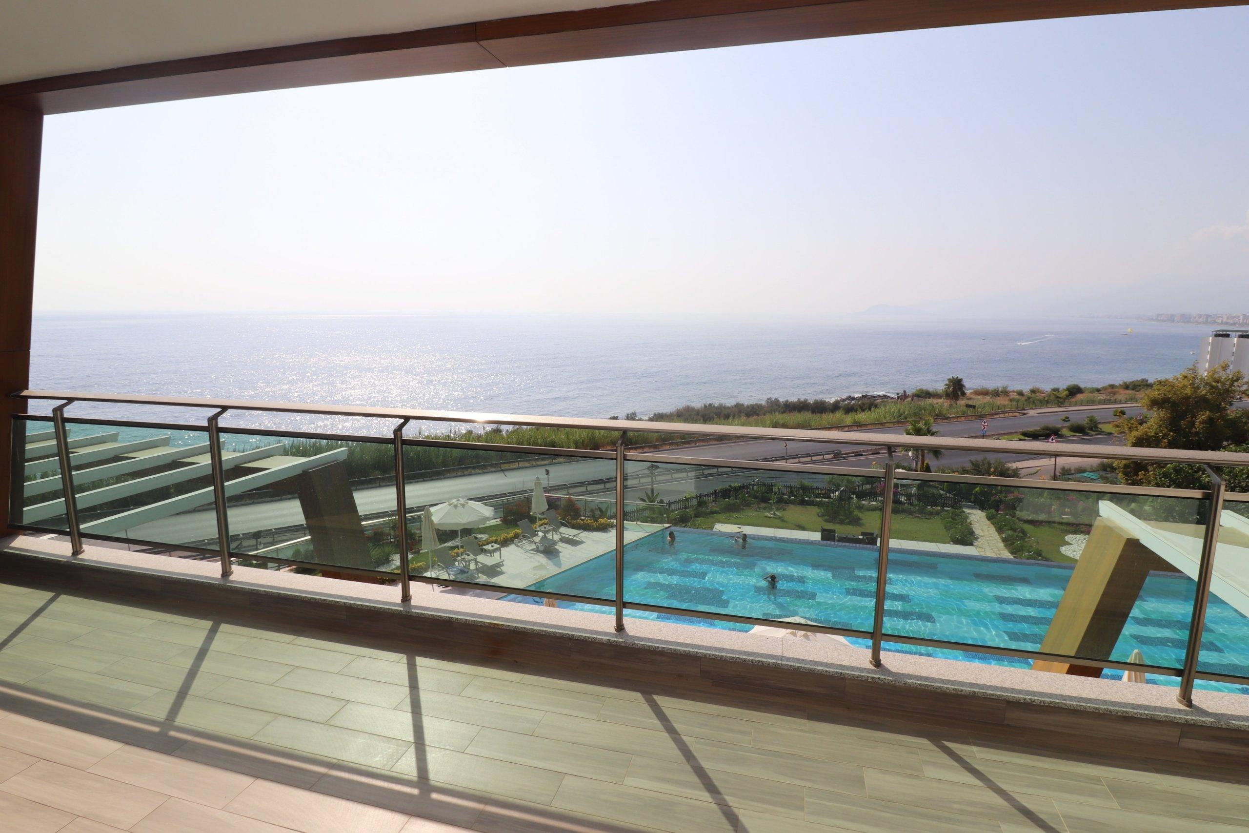 1+1 в Люкс резиденции с видом на море в тихом районе Алании