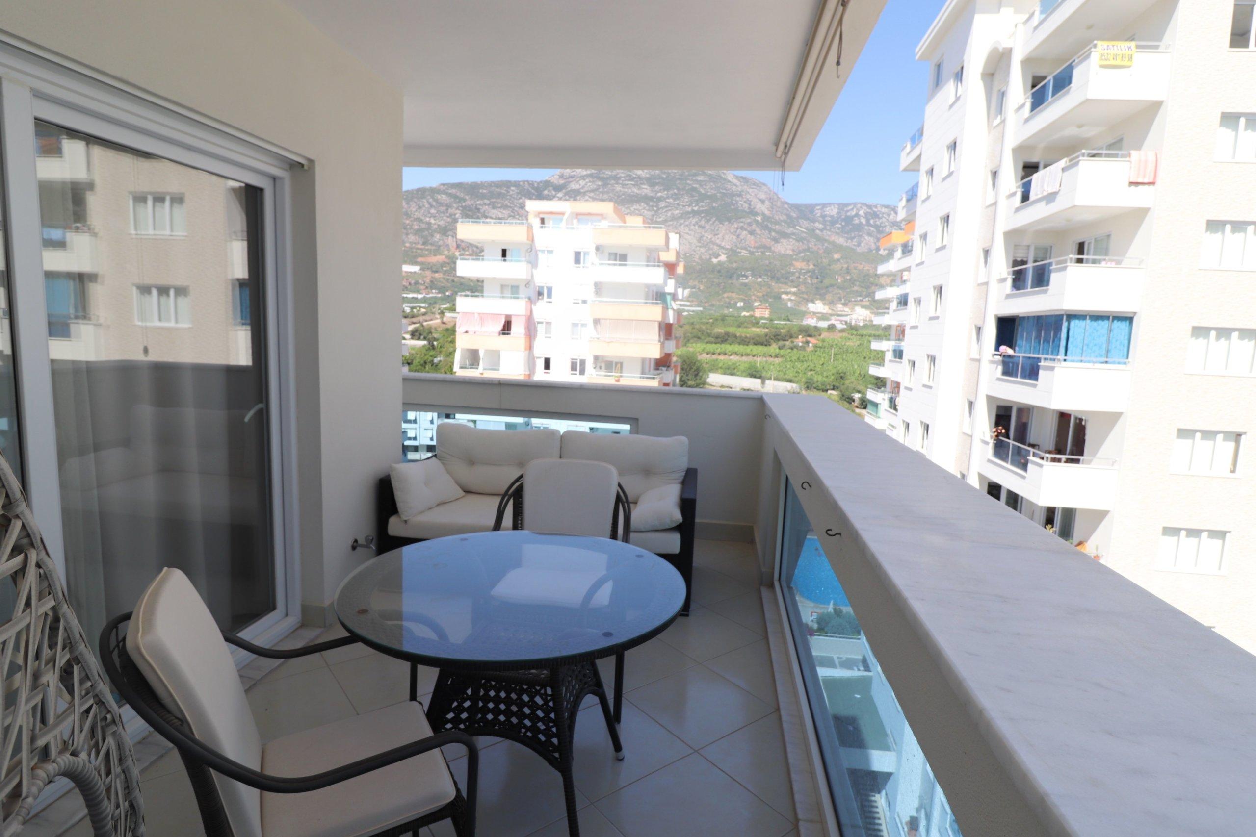 2+1 в Элитном новом комплексе с мебелью и техникой c панорамным видом на горы и частично море