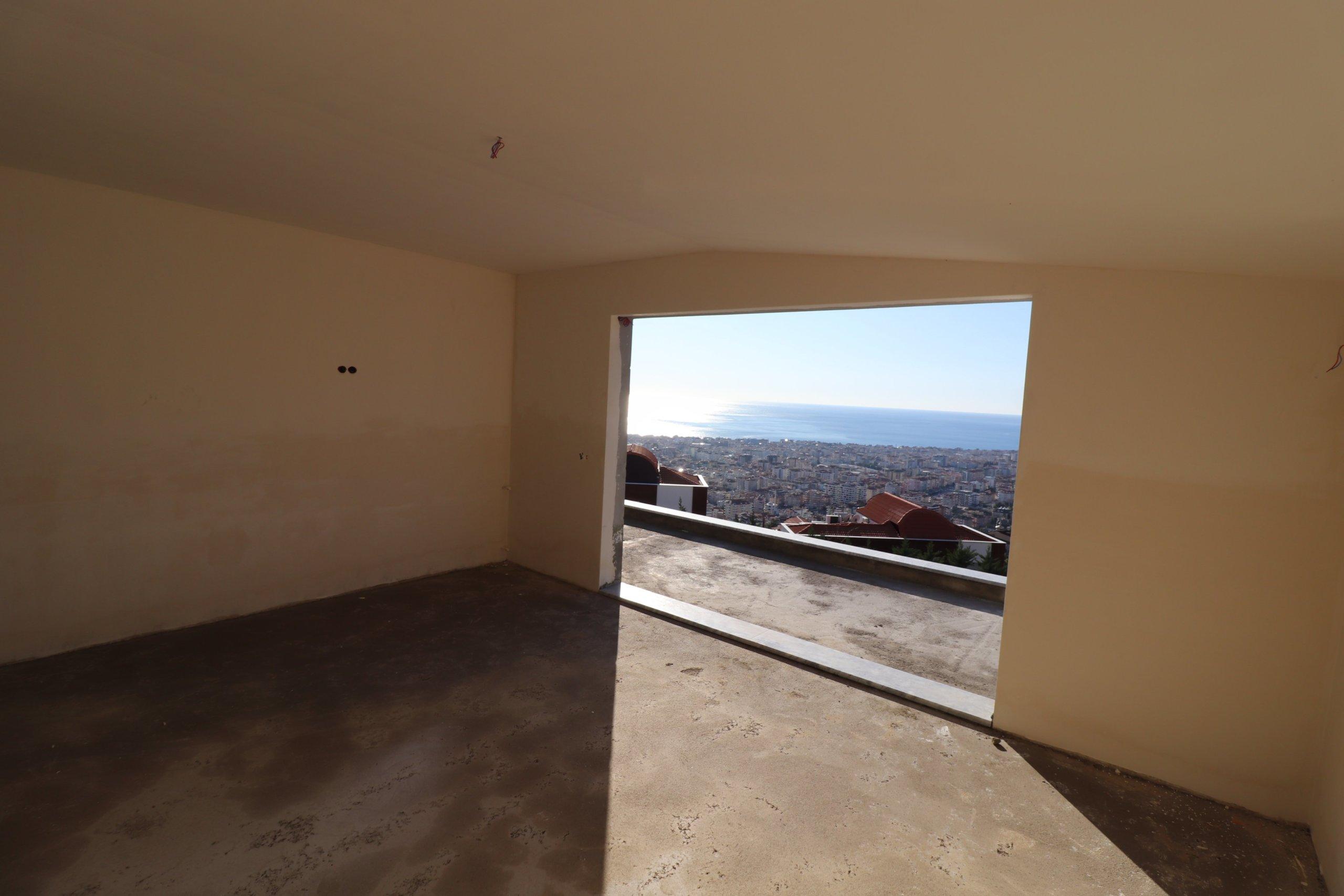 4+1 Пентхаусы в современном жилом комплексе с панорамным видом на море, горы и крепость Алании
