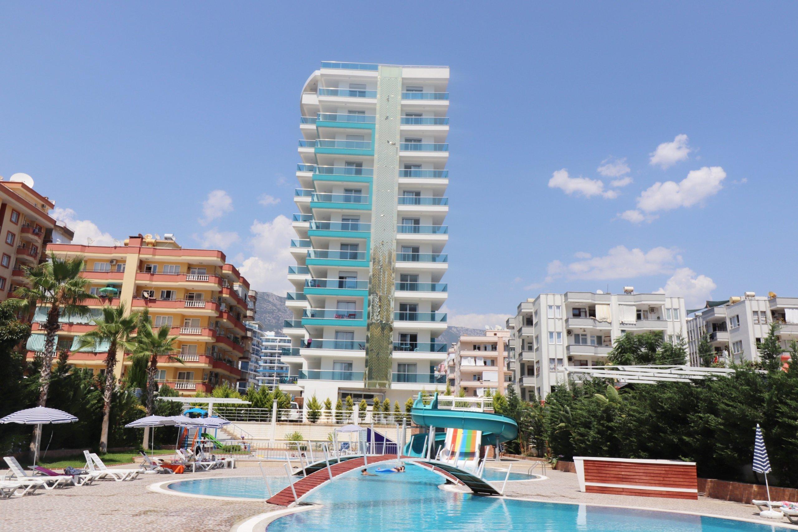 2+1 Квартира на высоком этаже с шикарным панорамным видом на море