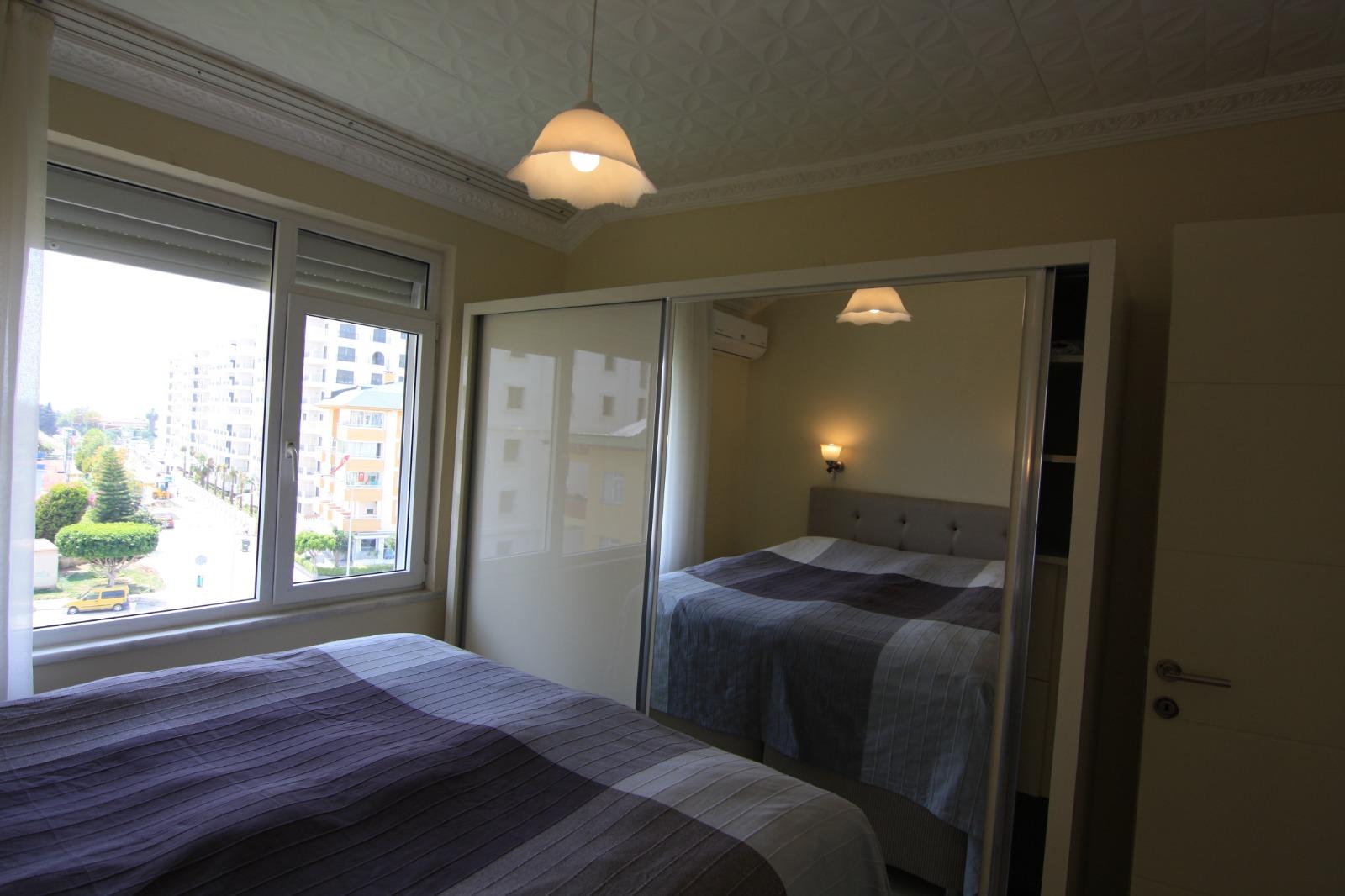1+1 Меблированная квартира с видом на море