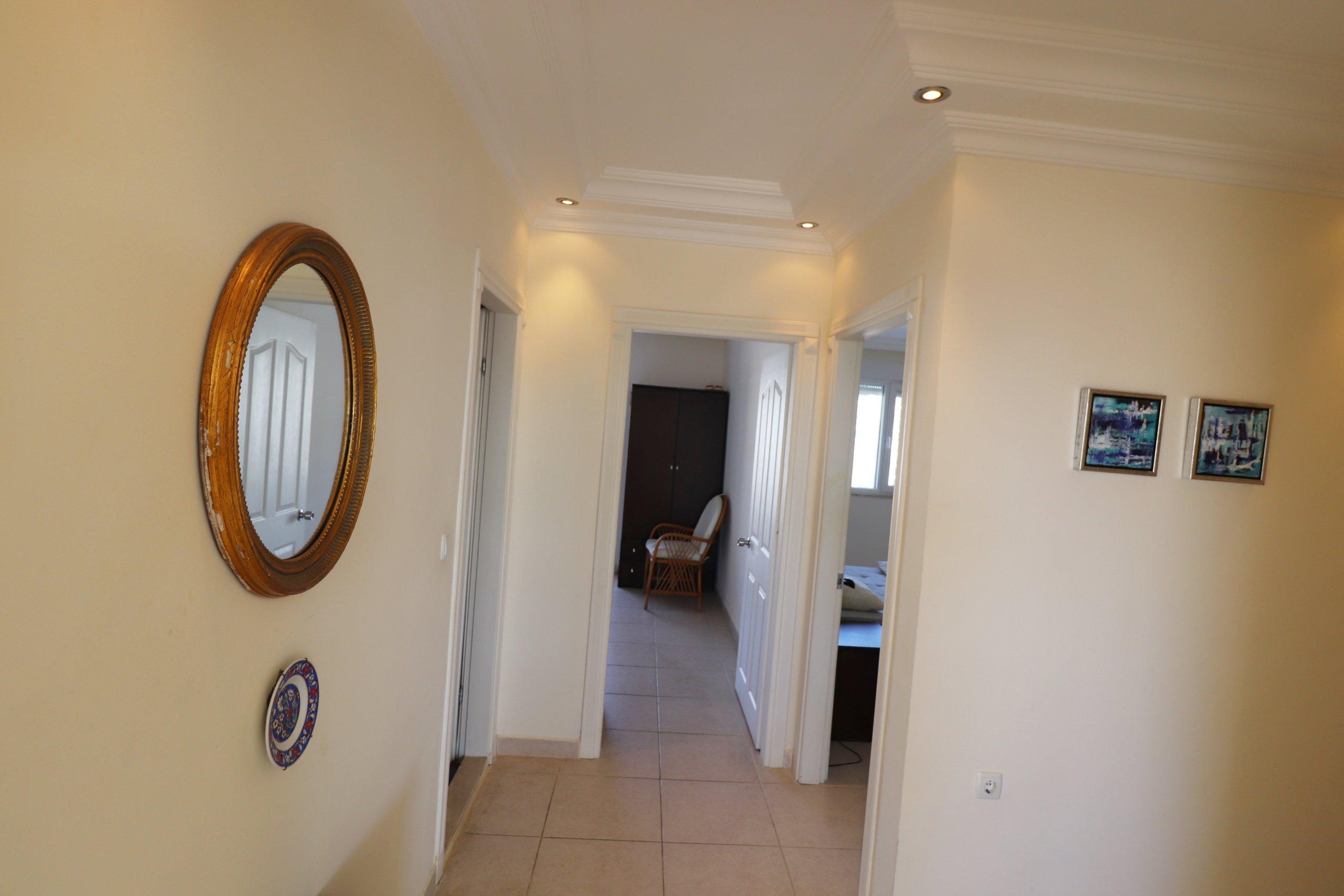 2+1 Меблированная квартира с шикарным панорамным видом с балконов