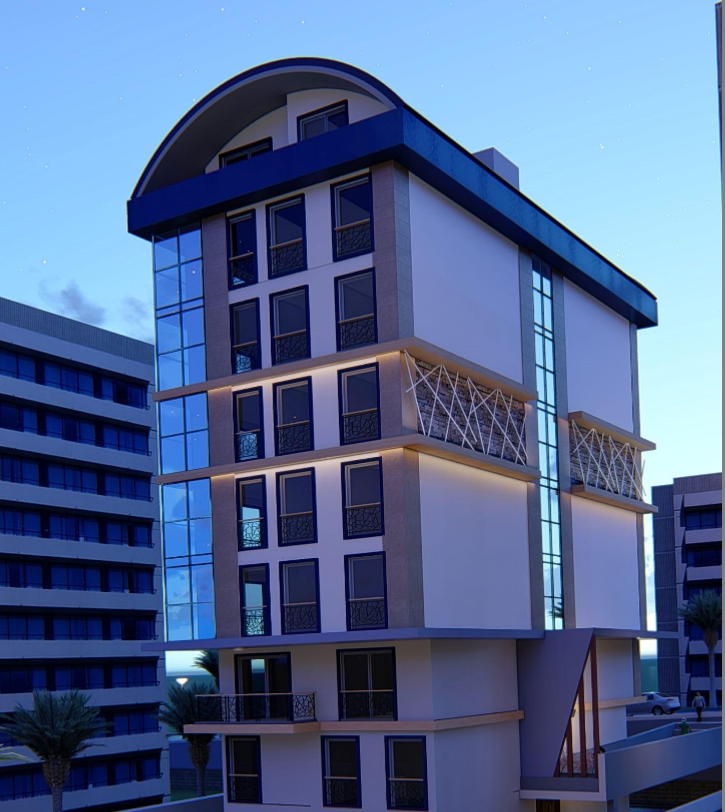 Алания Центр Продажа Квартир 2+1 в Новом Строящемся Проекте