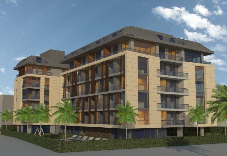 Новый комплекс в центре Алании, квартиры планировки 1+1 от застройщика в рассрочку
