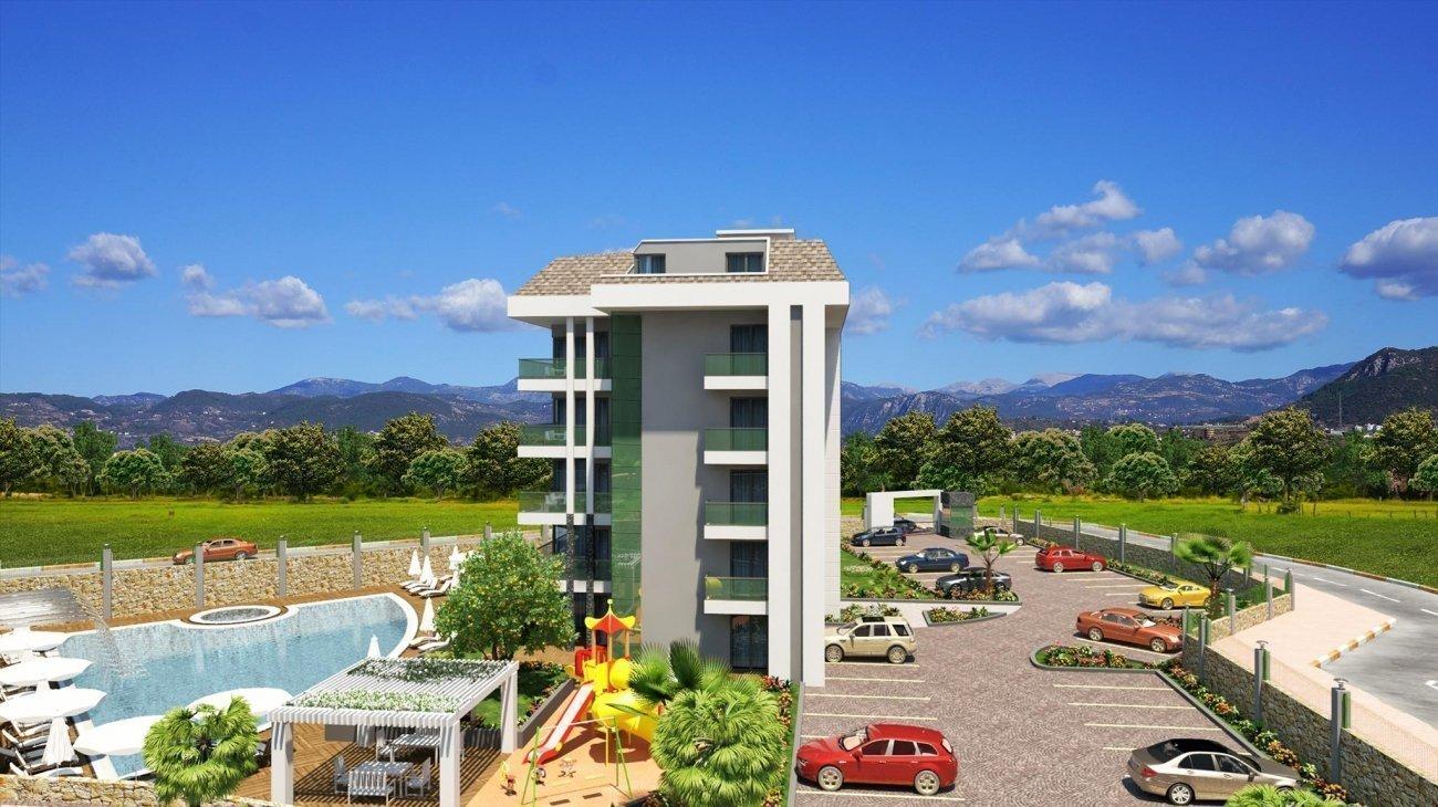 3+1 Просторная квартира с отдельной кухней с панорамным видом на горы и море