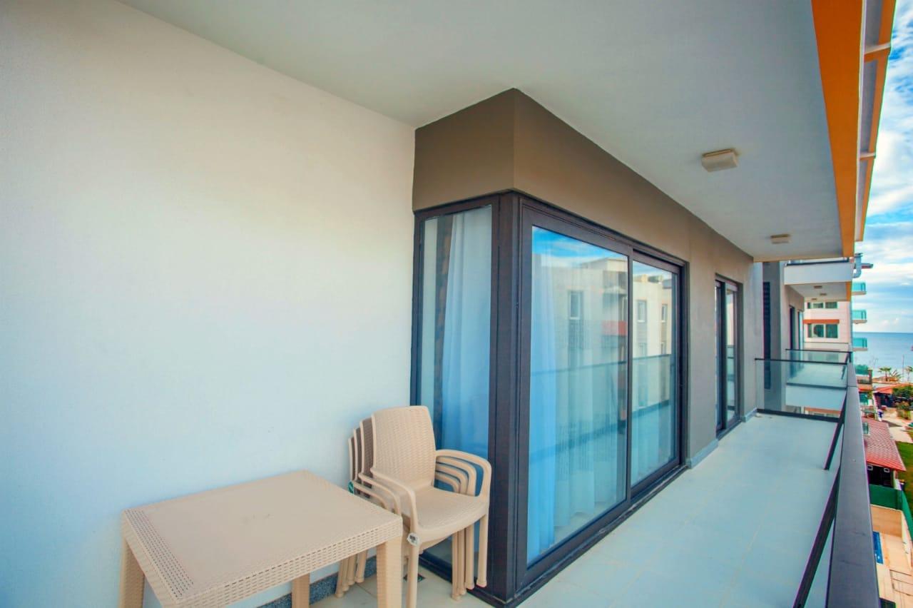 1+1 Меблированная квартира в Оба в 100 метрах от пляжа