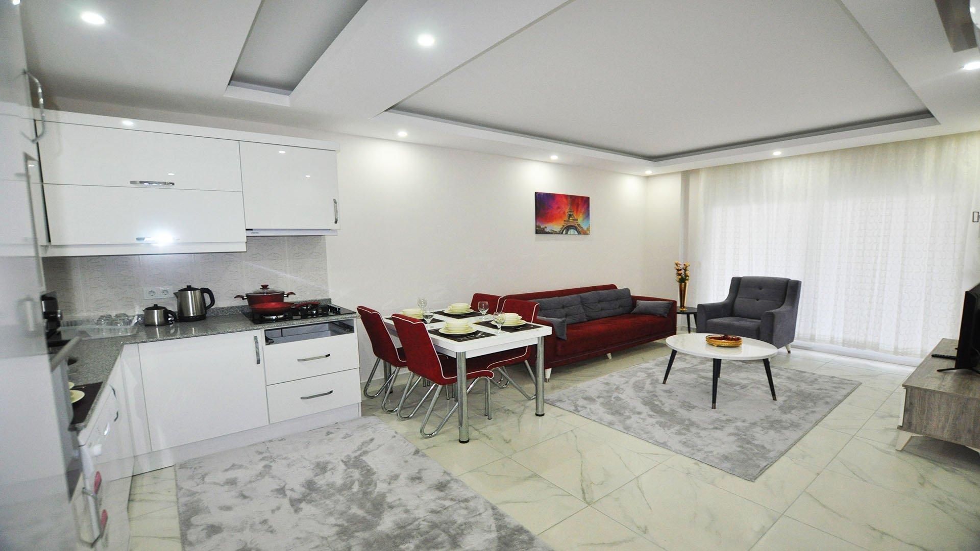 Двухкомнатная меблированная квартира на 8 этаже в Махмутларе