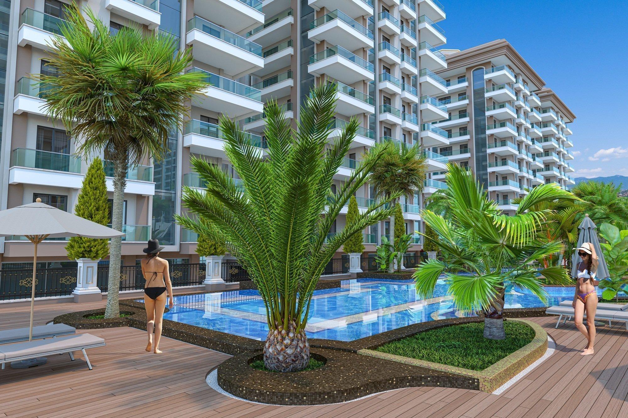 Большой выбор квартир 1+1, 2+1 и дуплексов 2+1, 4+1 в строящемся жилом комплексе