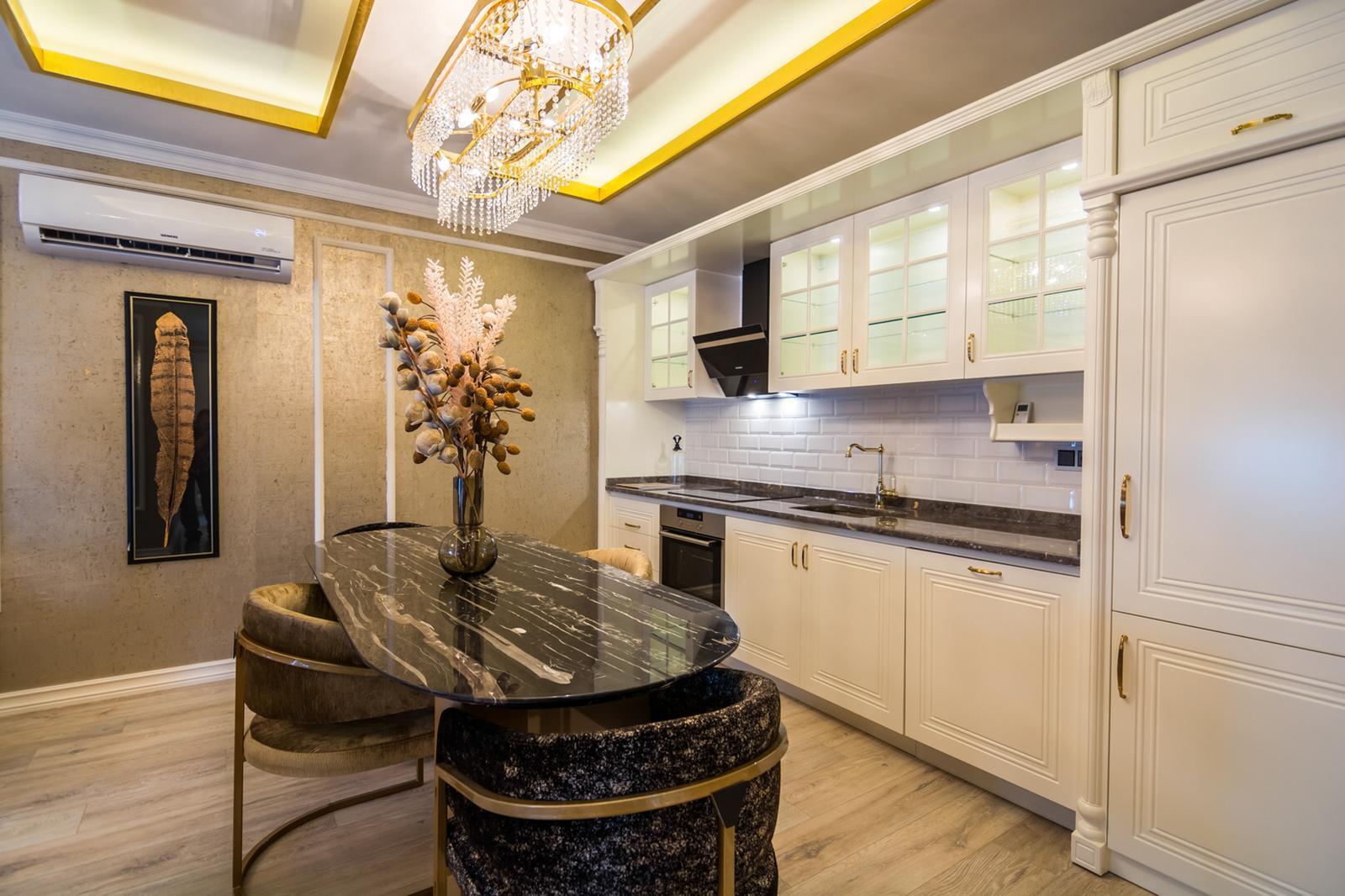 Шикарный 2+1 меблированный аппартамент в жилом комплексе с 5* отельной инфраструктурой