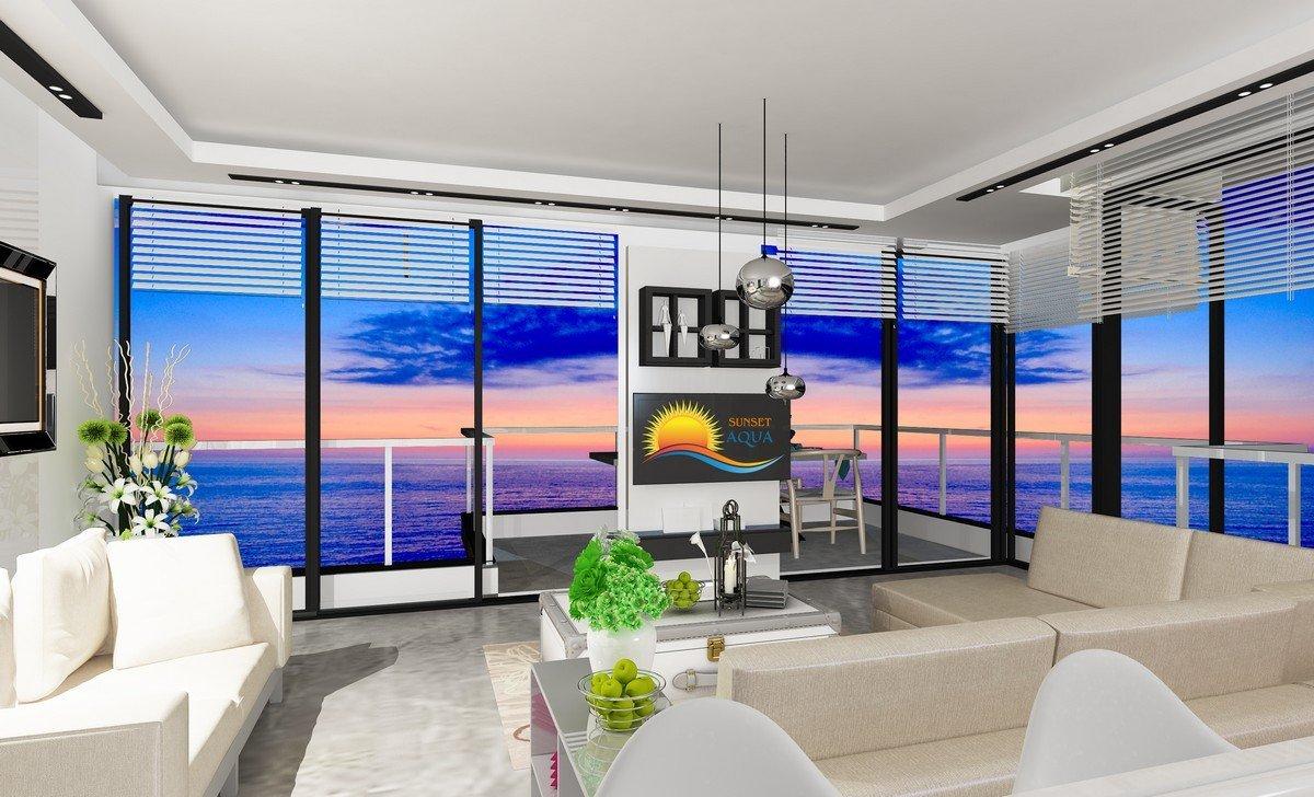 Апартаменты в жилом комплексе на первой линии моря