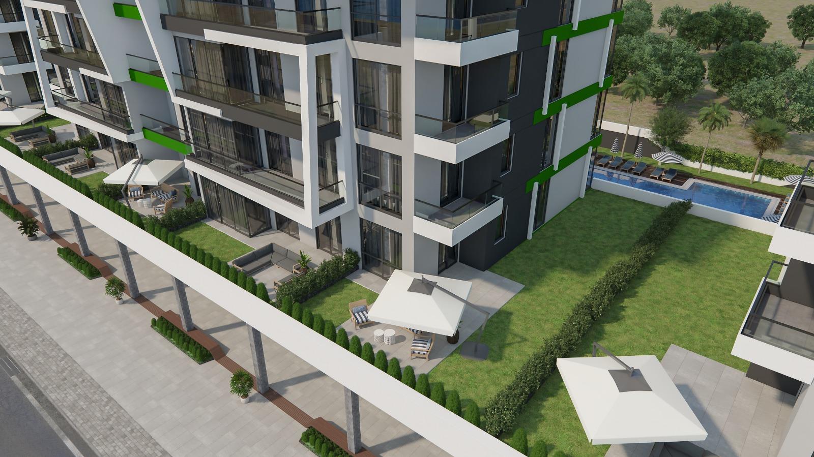3+1 Квартиры класса люкс в строящемся жилом комплексе в Каргыджак