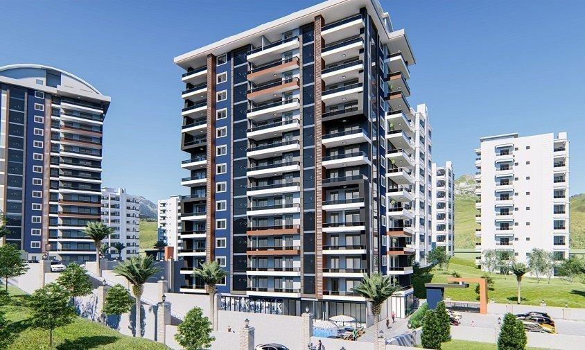 3+1 Квартира с видом на море в жилом комплексе на стадии строительства в рассрочку