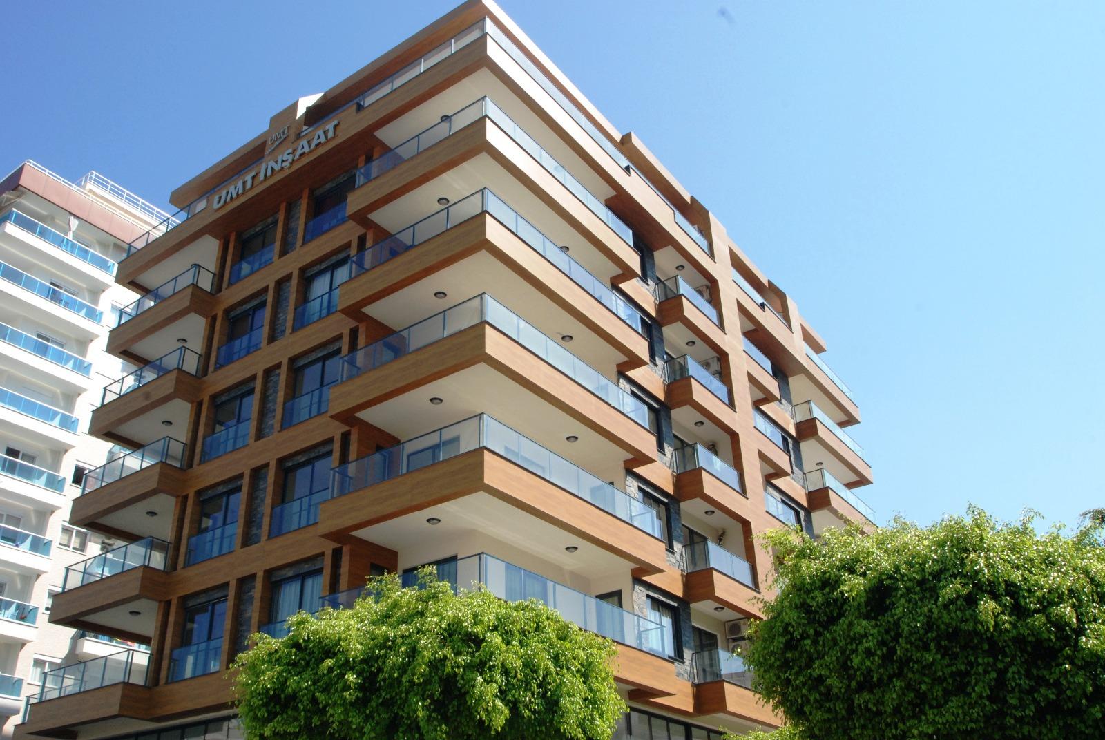Стильные апартаменты 2+1 в Алании  c видом на море