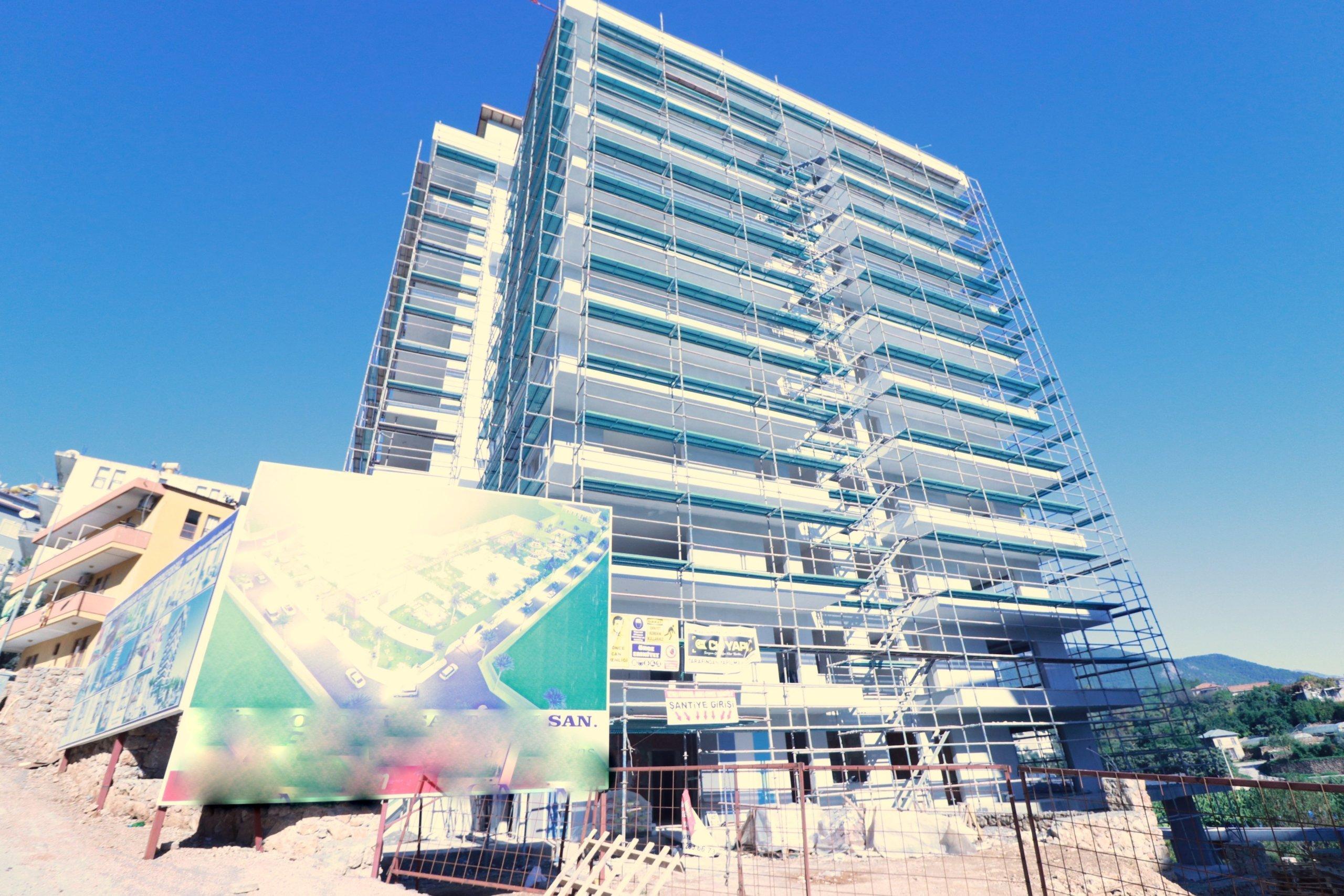Алания Махмутлар Квартира 2+1 в Стильном Комплексе в Процессе строительства
