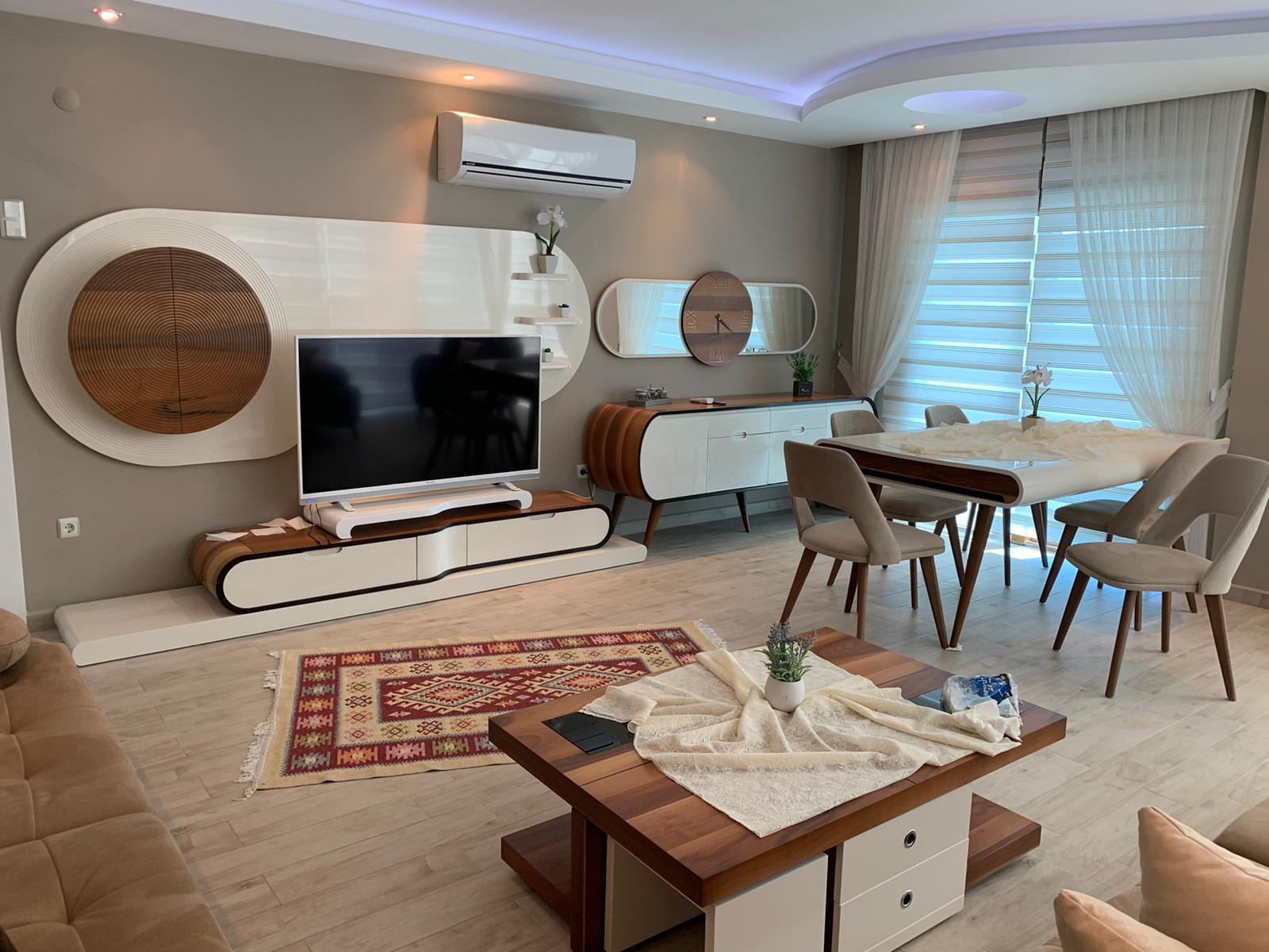 3+1 Меблированная квартира с видом на море в Кестеле