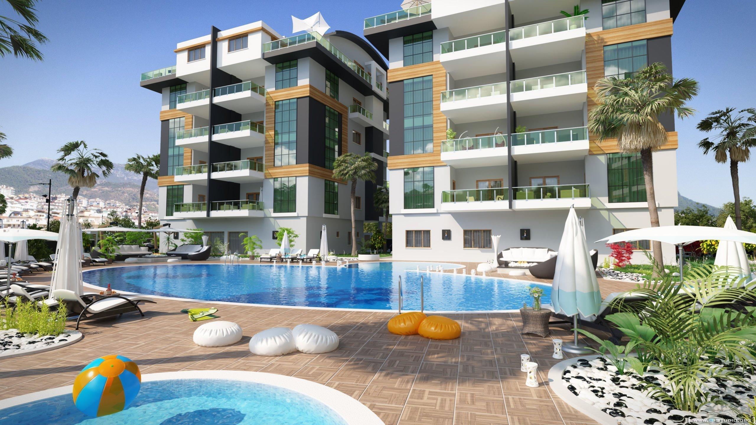 Современные просторные апартаменты в новом комплексе