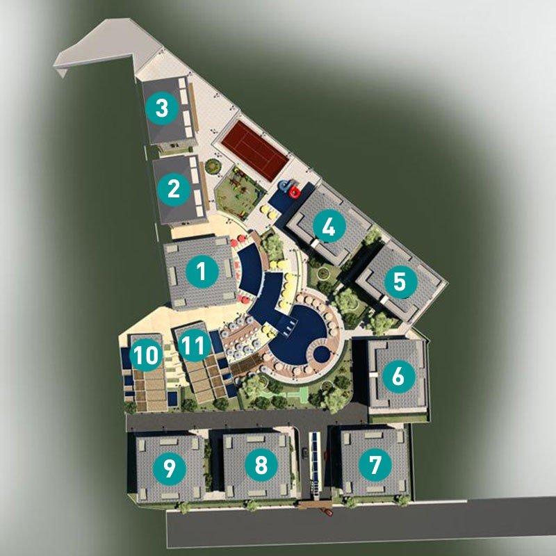2+1 Квартира в жилом комплексе с инфраструктурой 5* отеля