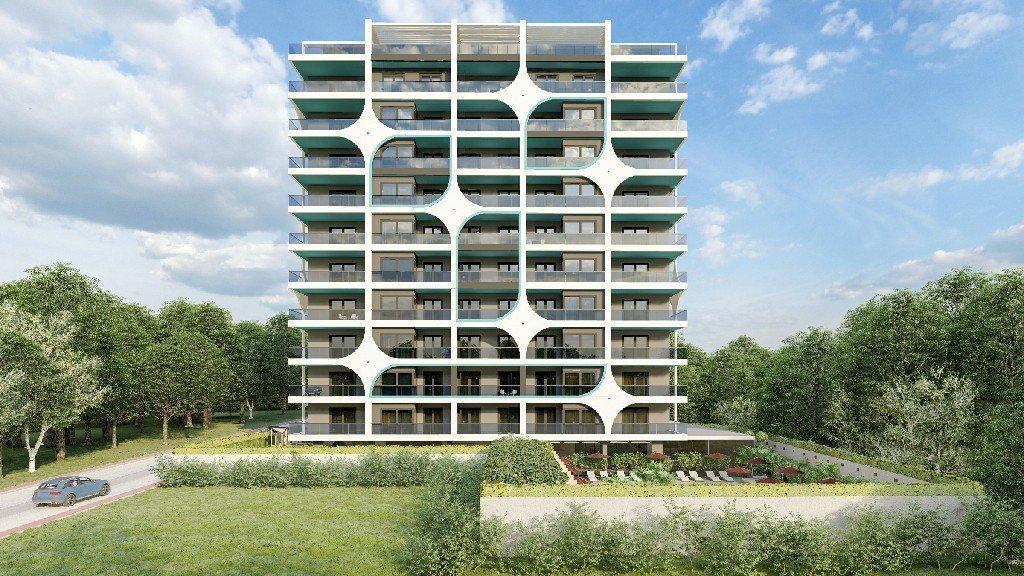 Квартиры планировки  3+1 с видом на море и горы в строящемся комплексе в рассрочку