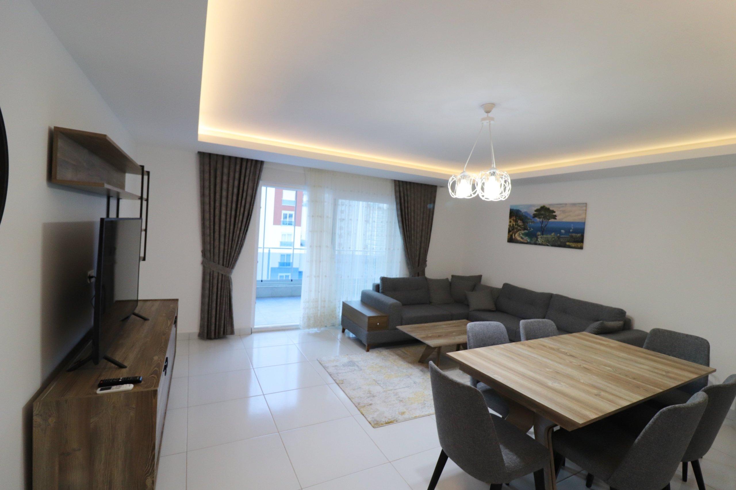 Алания Махмутлар трехкомнатная меблированная квартира в аренду на берегу моря