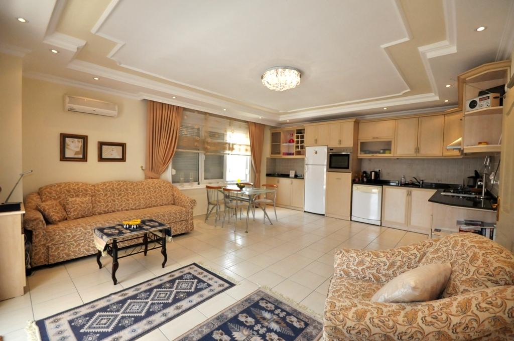 Алания Оба Продажа Меблированной Квартиры 2+1 в Доме с Басейном